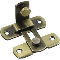 YUM 90 Graden Flip Deurslot Bolt Cam Lock Schuur Deur Rechterhoek Slot Gebogen Deur Gesp Speciale Deurslot (Brons)