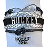 Hockey Mom Charm Bracelet, Hockey Mom Jewelry- Perfect Gift for Mom