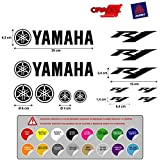 PEGATINA ADHESIVO STICKER ADESIVO AUFKLEBER DECALS AUTOCOLLANTS YAMAHA R1 VINILO TROQUELADO ALTA CALIDAD MOTO 5 a 7 años 13 unidades 16 colores disponibles