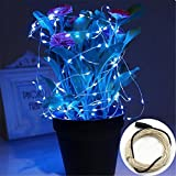 LEEPO LED String Lights Waterproof Copper Wire For Home, Garden, Yard, Seasonal Decoration Chrismas Holiday Starry Lights (32ft 100 Leds, Blue)