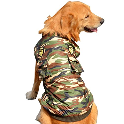 Spring Breakers Costume (Pet Windbreaker,Elevin(TM)Large Big Dog Puppy Warm Camouflage Jumpsuit Coat Doggy Apparel Jacket Clothes (20, Camouflage))