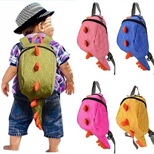 kids backpack children Dinosaurs School Bags Cartoon Animals Small Bag 3-7 year fashion (Green) - Spiderman Outfit Replica