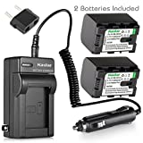 [Fully Decoded] Kastar BN-VG121 Battery (2-Pack) and Charger Kit for JVC Everio GZ-E Series, GZ-EX Series, GZ-HD Series, GZ-HM3 Series and GZ-MG750, GZ-MS110, GZ-MS230, GZ-MS250, GZ-G3, GZ-GX1, GZ-GX8
