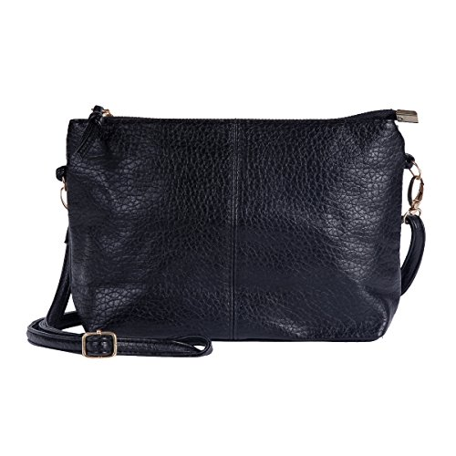 Simple Damara Zipper Womens Bag Strap Handbag Black Damara Clutch Womens U7fWwqa
