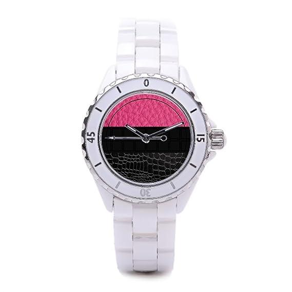 Plantilla la tienda de reloj personalizable lujo relojes Marcas oficina de cerámica reloj de pulsera: Amazon.es: Relojes