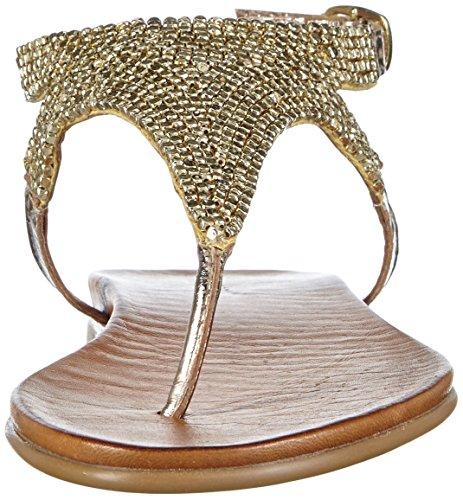 Inuovo 6197 - Sandalias Mujer Dorado - Gold (GOLD)