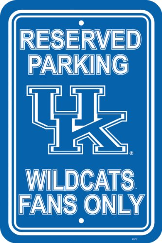 (Fremont Die NCAA Kentucky Wildcats 12-by-18 inch Plastic Parking Sign)
