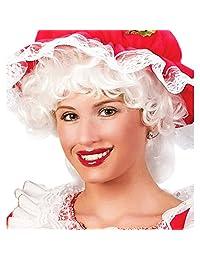 Fun World Women's Santa Wig Rvb, Multi, One Size