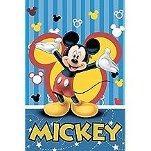 Disney Mickey Mouse Party Blue Fleece Blanket By BestTrend
