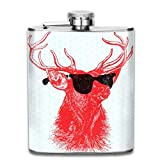Young Buck 7 Oz Printed Stainless Steel Hip Flask for Drinking Liquor E.g