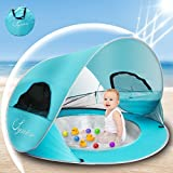 SySrion Baby Beach Tent UV Protection, Portable Pop Up Sun Shelters Baby Pool for Infant(Baby Beach Tent)
