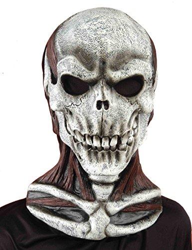 Forum Novelties Men's Skull Mask with Cowl, Multi, One Size (Creepy Mask For Sale)