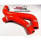 JDMFresh - Red Silicone Radiator Hose Kit for Subaru WRX and STI 2002-2007