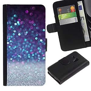 Planetar® Modelo colorido cuero carpeta tirón caso cubierta piel Holster Funda protección Para Samsung Galaxy S3 MINI / i8190 (Not For S3) ( Invierno Nieve Blanca Brillante)