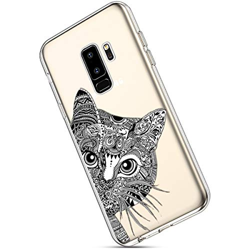 Amazon.com: Galaxy S9 Plus Silicone Case,MoreChioce Fashion Creative Painted Pattern Design Slim Transparent Silicon Protective Cover Compatible with ...