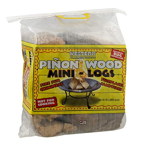 Western Premium BBQ Products Pinon Wood Mini-Logs, 16.58 lbs
