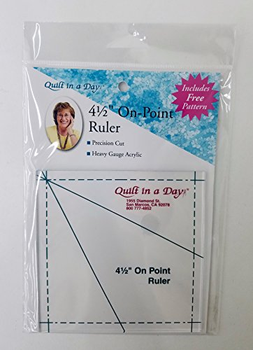 "Quilt in a Day QND2024 Ruler 4.5"" on Pt"