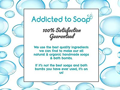 Addicted to Soap – Pure Castile Soap Bar- Unscented Bar Soap 5oz Eco-Friendly Soap Hand Body Face Bath Shampoo Bar Men Women Kids Organic Olive Oil Natural Castile Soap