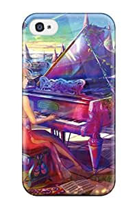 Hot 7420285K258235473 piano multi anime fuji choko Anime Pop Culture Hard Plastic iPhone 4/4s cases