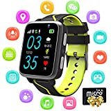 Kids Smartwatch Phone for Boys Girls - Bluetooth Smartwatch with MP3 Music Player FM Remote Camera SOS Call Flashlight LBS Tracker Sports, Smartwatch Touchscreen[1GB Micro SD Included] (G612-Pink)