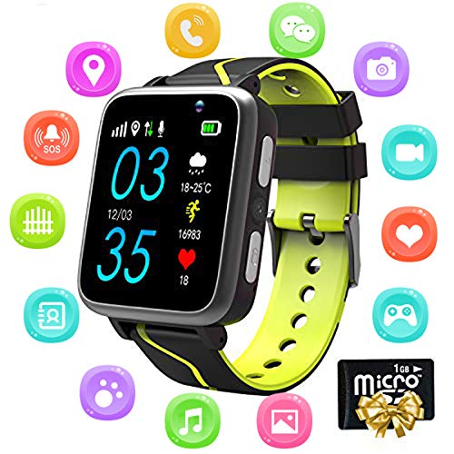 EarnCore Kids Smart Watch Music - MP3 Music Player Wrist Watch Phone for Boys Girls Touch Screen LBS Tracker Pedometer FM Bluetooth SOS Remote Monitor Camera Class Mode[1GB Micro SD Included]
