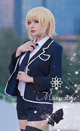 [milky time]ウィッグ付☆ Fate Apocrypha ルーラー ジャンヌダルク 風 制服 衣装 コスプレ コスチューム cosplay (M)