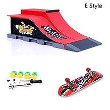 ZYAQ Mini Skate Park Ramp Parts for Tech Deck Fingerboard Finger Skateboard Ultimate Parks Ramp #E