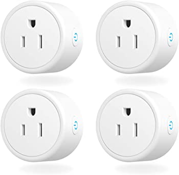 4-Pack Aoycocr Mini WIFI Switch with Timer Function, Alexa, Google Home