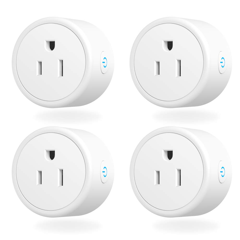 Smart Plug - Aoycocr Mini WIFI SwitchWorks With Alexa, Google Home & IFTTT, Remote Control Outlet with Timer Function, ETL/FCC/Rohs Listed Socket, White(4 Pack) by Aoycocr