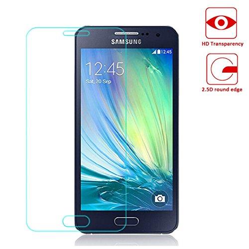 OKCS® TPU Hülle Case Schutzhülle für Samsung Galaxy A3 inklusive Wunderglass Panzerglas Screenprotector Schutzfolie Displayschutz Glasprotector