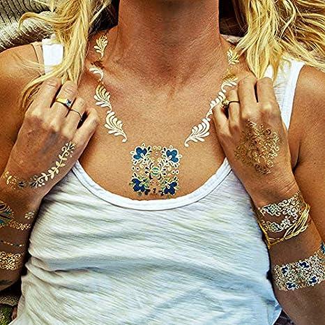 wicmeoon 1pcs Tatuajes éphémères falso brazo muñecas Gemelos ...