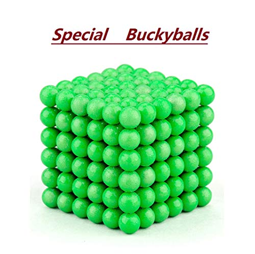 - Brain Teaser,5MM 216-Pieces Cube Toy,DIY Magic Sculpture Building Blocks Toy for Children Intelligence Learning & Office Toy for Stress Relief for Kids or Adults,Fluorescent Green