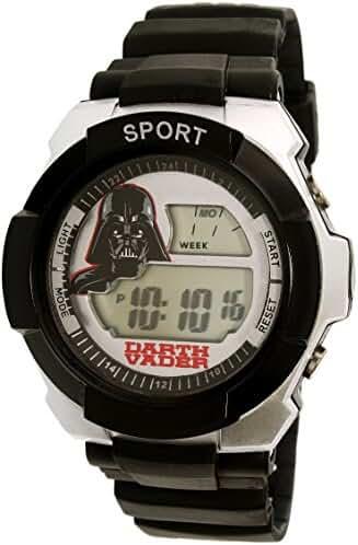 Star Wars SWCAD059 Boys Black Silicone Band Darth Vader Digital Watch
