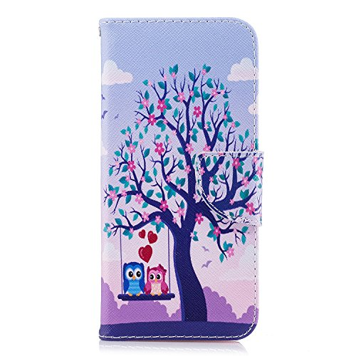For Galaxy S9,S9 Plus Case,EC-touch Simple Beautiful Colorful Flower [Magnetic] Style PU Leather Case Wallet Flip Stand [Flap Closure] Cover for Samsung Galaxy S9,S9 Plus