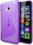 Microsoft Lumia 640 Case, Cimo [Wave] Premium Slim TPU Flexible Soft Case for Microsoft Lumia 640 - Purple