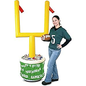Inflatable Goal Post Cooler W/football 76in. Pkg/3