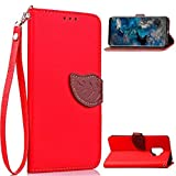 Galaxy S9 Leather Case,Galaxy S9 Strap Wallet Case,Leecase Pu Leather Soft Inner Bookstyle Magnetic Closure Wallet Flip Cover Creative Novelty Leaf Pattern Leather Flip Wallet Protective Case Cover with Stand and Card Slots for Samsung Galaxy S9+ 1x Black Stylus
