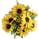 Lanzom-Sunflowers-Artificial-Flowers-Bouquet-For-Wedding-DecorHome-Decoration