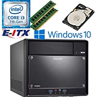 Shuttle SH110R4 Intel Core i3-7100 (Kaby Lake) XPC Cube System , 16GB Dual Channel DDR4, 1TB HDD, DVD RW, WiFi, Bluetooth, Window 10 Pro Installed & Configured by E-ITX