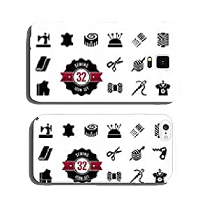 Vector sewing equipment and needlework icon set cell phone cover case iPhone6 Plus