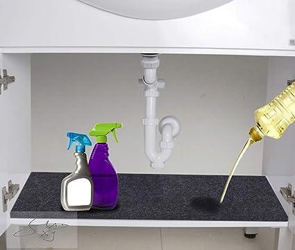 Amazon Com Under Sink Mat Kitchen Tray Drip Premium Cabinet