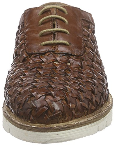 Xyxyx Lace Up Damen Derby Braun (cognac)