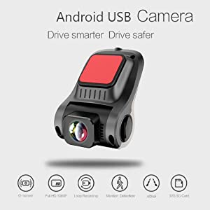 Dash Cam Hd 1080P Dashboard Camera Recorder,Unine 6-Lane 170 Degree Wide Angle Lens,Clear Nighttime Recording,G-Sensor,Motion Detection,Loop Recording,Driving Recorder for Cars Front and Rear