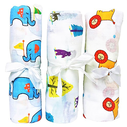 Premium Muslin Baby Swaddle Blanket To Calm Your Cranky Newborn...