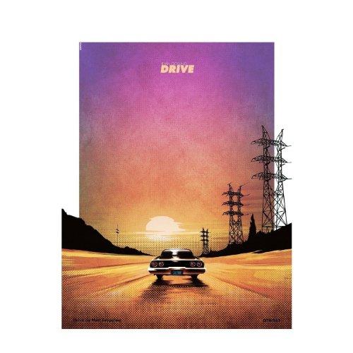 Drive Poster Art Print by Matt Ferguson by onthewall