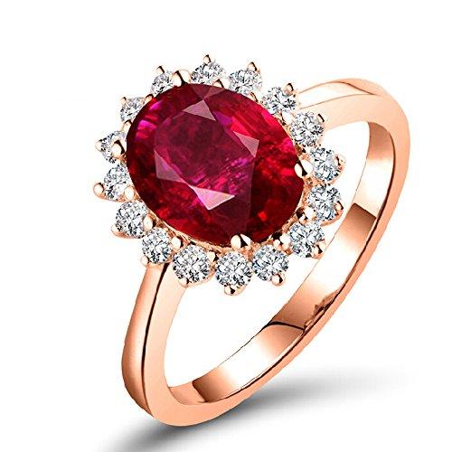 Amazon real ruby gemstone diamond wedding ring engagement bands amazon real ruby gemstone diamond wedding ring engagement bands 14k rose gold jewelry junglespirit Image collections