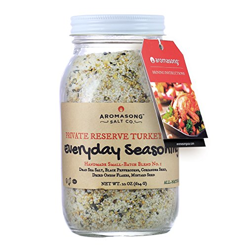 Aromasong poultry rub Brine Natural Flavored From the Dead Sea 22oz, (Everyday Seasoning)