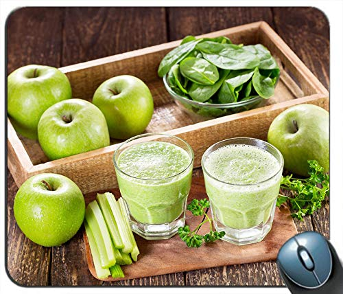Green Apples Vegetable Foliage Smoothies Drinks Personalized Rectangle Mouse Pad Mouse Mat