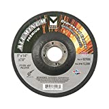 Mercer Industries 627080 Type 27 Grinding Wheel for Aluminum and other Non-Ferrous Metals, 5'' x 1/4'' x 7/8'', 25 Pack