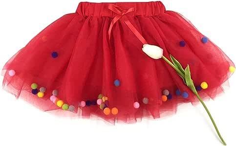 Mini falda de ballet de tul multicolor para niñas pequeñas R 120 ...